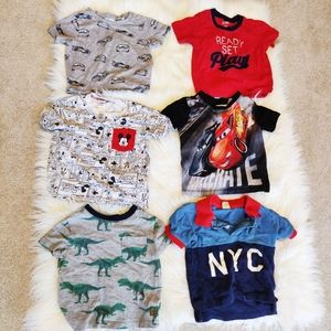 Six tops for toddler boy size 18-24months